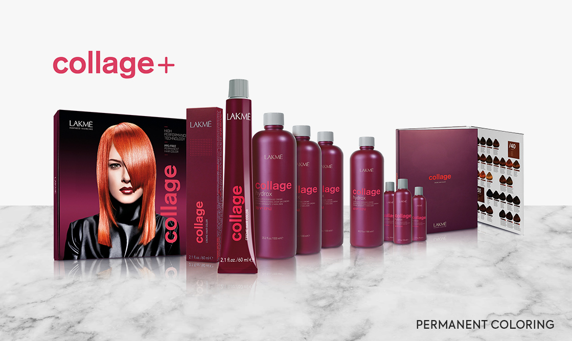 Lakme Collage. Permanent coloring